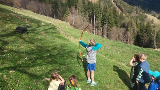 Das Bogenschießen bereitet allen sehr viel Spass!